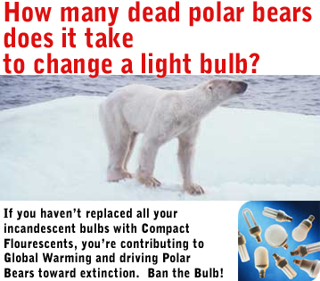 How many dead polar bears does it take to change a light bulb?